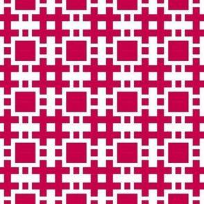 Eta Check v3A-M   -Cherry Red and White