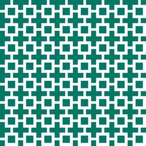 Eta Check v3  -Dark Emerald and White