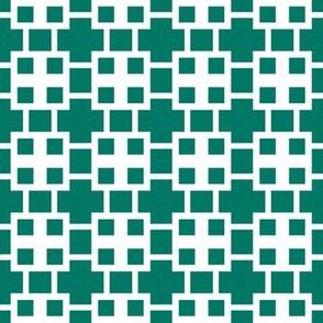 Eta Check v3-M  -Dark Emerald and White