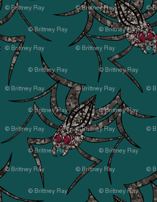 Glass Spider in Dark teal
