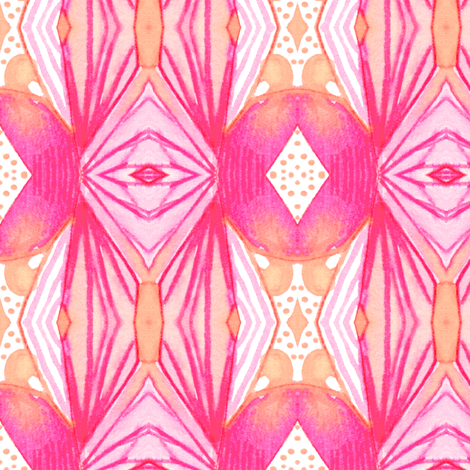 Flare in Peach Pink fabric by emilysanford on Spoonflower - custom fabric