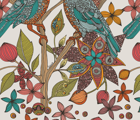 LoveBirds fabric by valentinaharper on Spoonflower - custom fabric