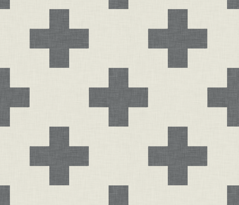 plus_one_grey_and_white fabric by holli_zollinger on Spoonflower - custom fabric