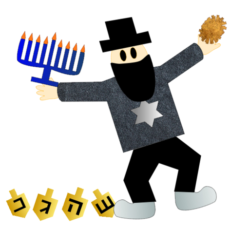 Tacky Chanukkah Harry fabric by doryd on Spoonflower - custom fabric