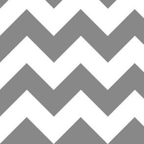 Chevrons White & Gray