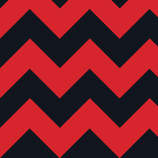 Chevrons Red and Black