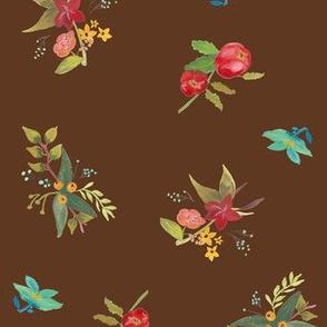 Flowers on Brown