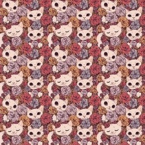 Kittens in Floral Fields Roses