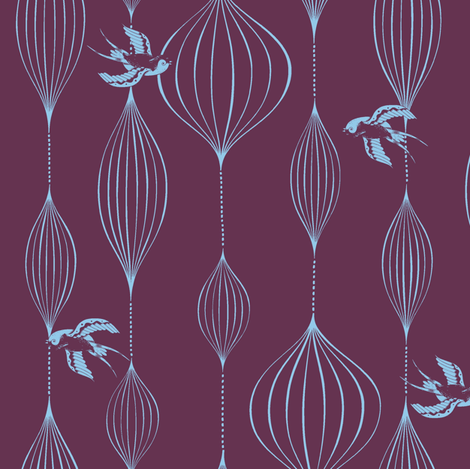 skylarking hawaii fabric by oddgirl on Spoonflower - custom fabric