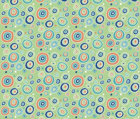 mod geodes in tangerine and kiwi fabric by arborleestudio on Spoonflower - custom fabric