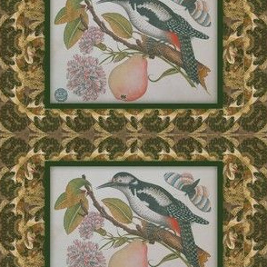 Bird pear decoupage