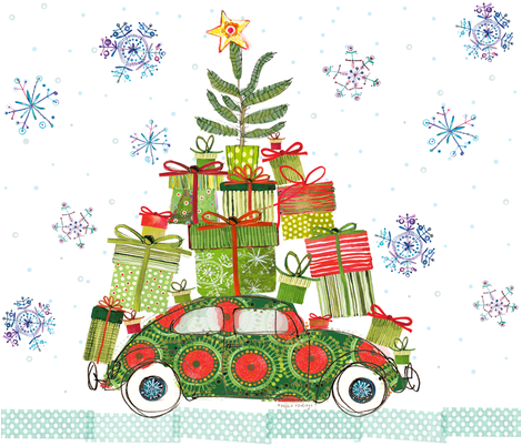 Haulin' Bug Christmas Tree fabric by robbinrawlings on Spoonflower - custom fabric