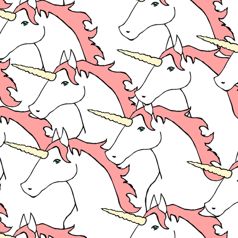 Unicorn Stampede Pink fabric by pond_ripple on Spoonflower - custom fabric