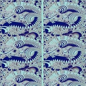 Sky blue dragons
