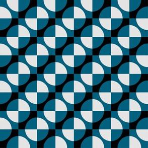Harlequin circles and squares