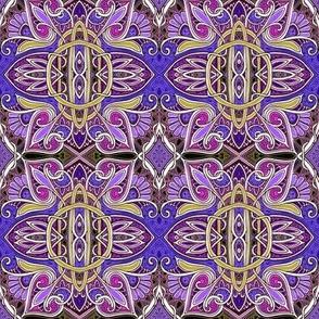 Big Starburst Daisy Spade Purple Circle