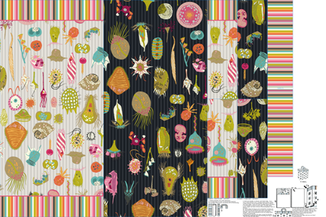 Protozoa Cut'N'Sew Shopping Bag fabric by chantal_pare on Spoonflower - custom fabric
