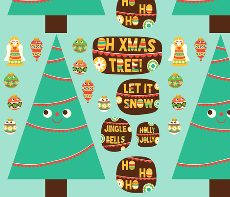 Xmas Tree Decals fabric by heidikenney on Spoonflower - custom fabric