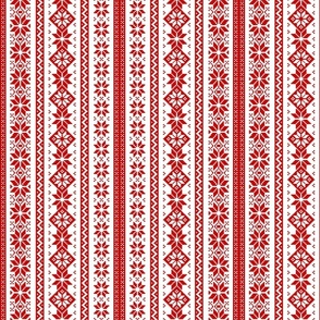Christmas Snowflake Stripe