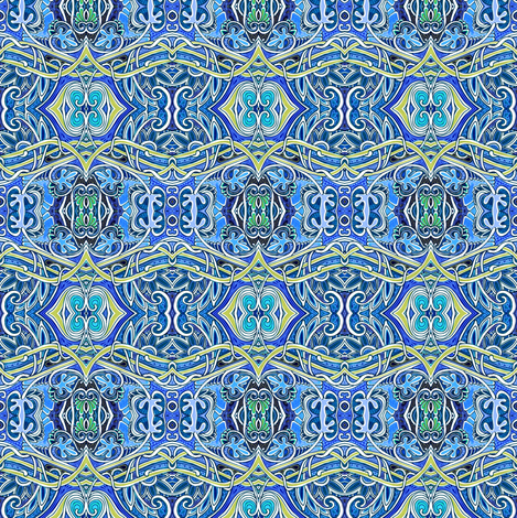 The Chill of a January Night fabric by edsel2084 on Spoonflower - custom fabric
