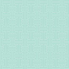 Cloisonne Robin's Egg Blue Graphic