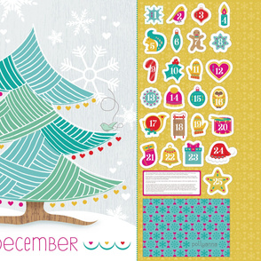 Cut-and-Sew Advent Tree