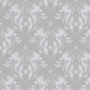Mermaid Damask - Pearl