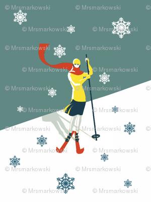 Demode-Retro-skiing