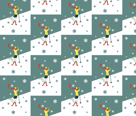 Demode-Retro-skiing fabric by mrsmarkowski on Spoonflower - custom fabric