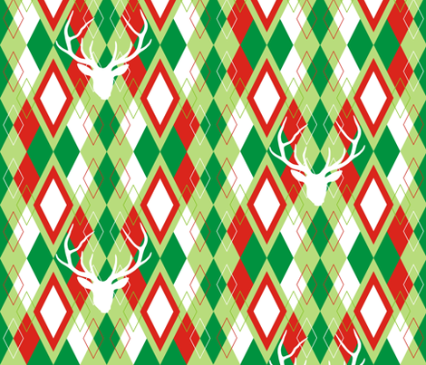 Reindeer Argyle fabric by smuk on Spoonflower - custom fabric
