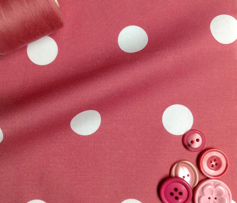 Polka Dot - White on Pink