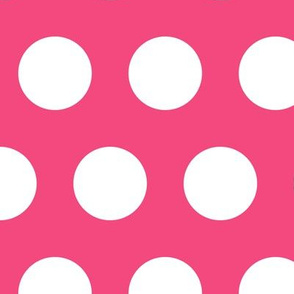 Polka Dot - White on Pink XL