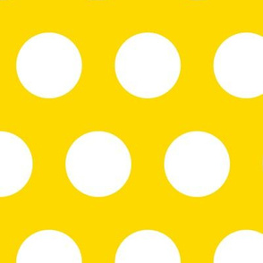 Polka Dot - White on Yellow XL