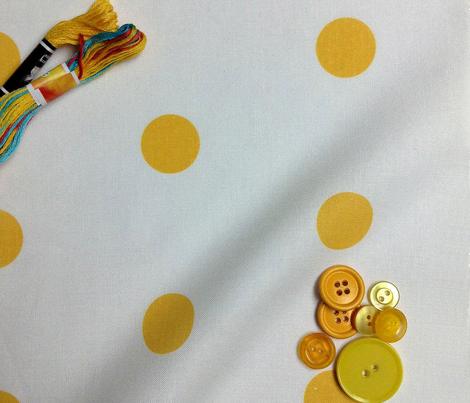Polka Dot - Yellow on White