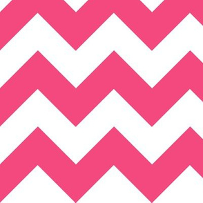 Chevrons Pink and White