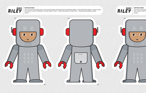 ROBO RILEY fabric by open-shop on Spoonflower - custom fabric