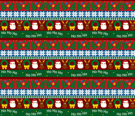 christmas_stripes fabric by ellen_williams on Spoonflower - custom fabric