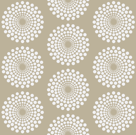 mod beach circle fabric by keweenawchris on Spoonflower - custom fabric