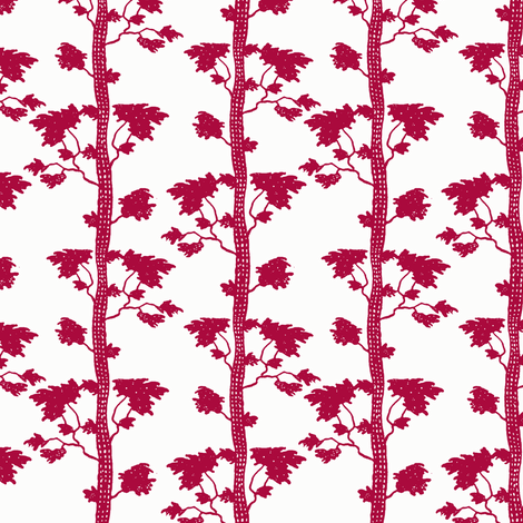 tree stripe red fabric by keweenawchris on Spoonflower - custom fabric
