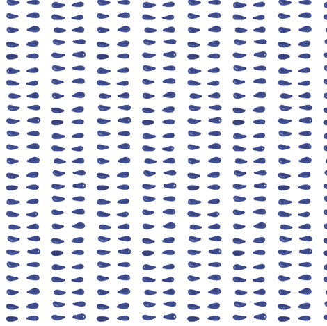 Blue and White Teardrop Stripe fabric by katebutler on Spoonflower - custom fabric