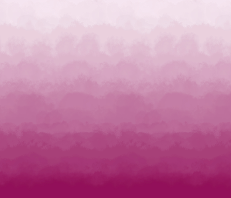 Ombre Clouds and Mural in Raspberry fabric by sparrowsong on Spoonflower - custom fabric