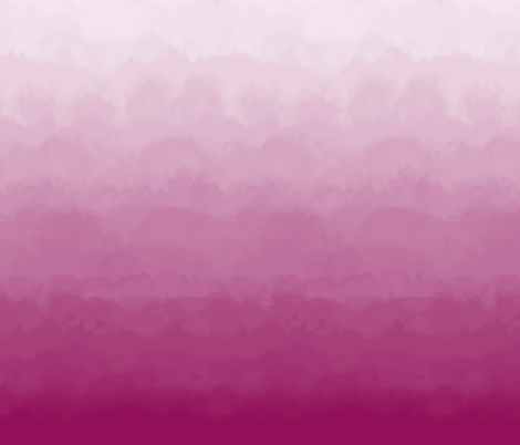 Ombre Clouds and Mural in Raspberry fabric by willowlanetextiles on Spoonflower - custom fabric
