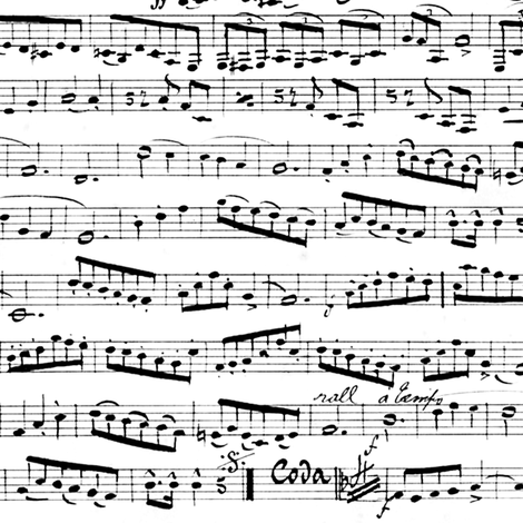 Black and white Music Notes fabric by inspirationz on Spoonflower - custom fabric