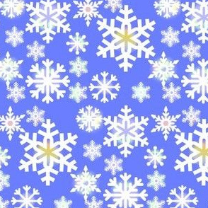 Blue Sky Snowflakes