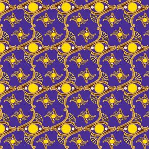 RING-deep solid purple -YELLOW