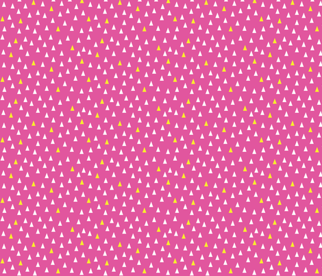 Triangles Hot Pink fabric by nobleandable on Spoonflower - custom fabric