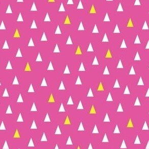 Triangles Hot Pink