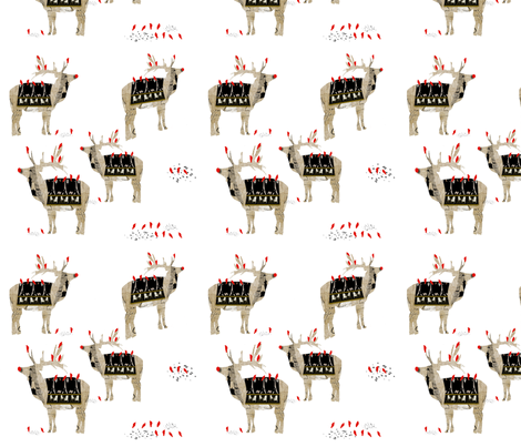 Rudolph and Friends fabric by karenharveycox on Spoonflower - custom fabric