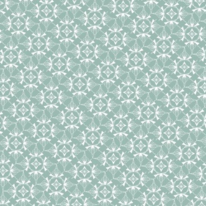 Snowflake Winter Green