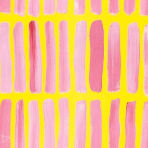 Pink and Yellow Strokes
